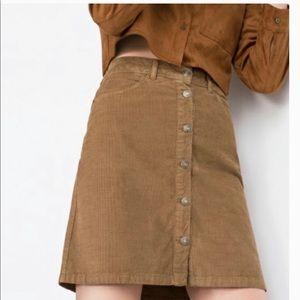 ZARA | Corduroy Mini Skirt